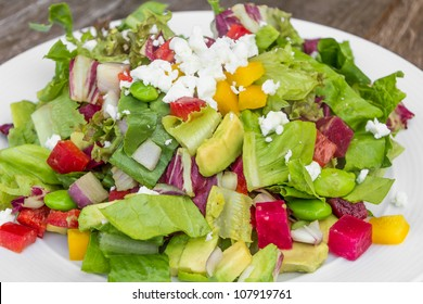 Chopped salad with goat cheese