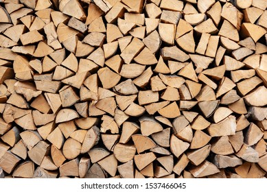 Chopped wood as an abstract background.