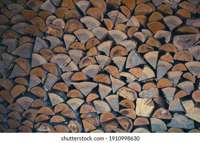 Chopped wood stacked on top of each other