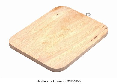 Chopping block on white background