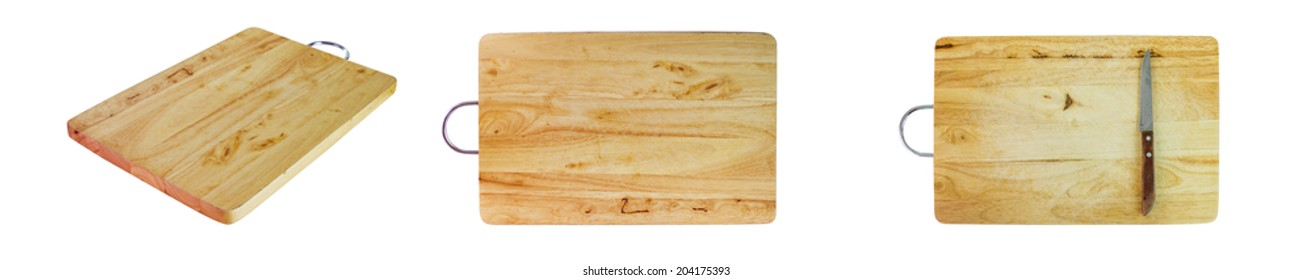 The chopping board on white isolate background for decorate project.