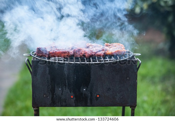 chops on grill