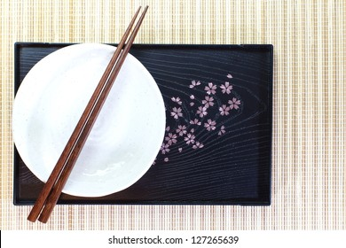 Chopsticks and Asian table setting