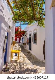 Chora the Capital of Amorgos Island, Cyclades, Greece