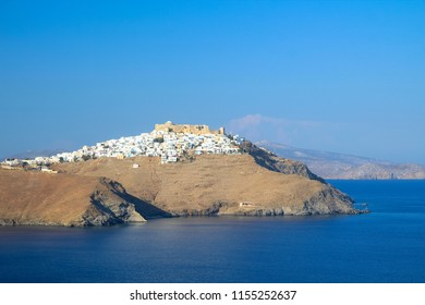 The Chora village of Astypalaia island in Greece. View of the fortress.