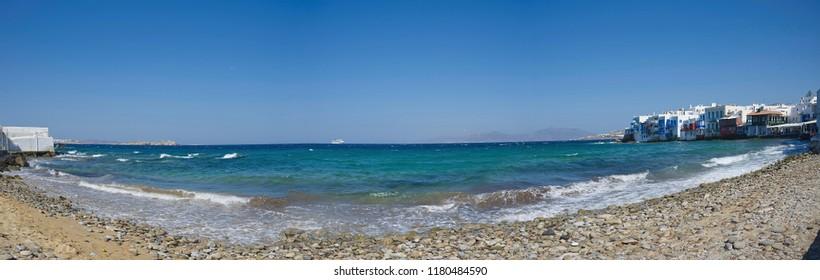 Chora village ( Little Venice ) - Mykonos Cyclades island - Aegean sea - Greece