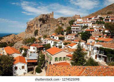 Chora village panorama, Samothraki