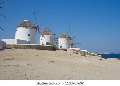 Chora village ( Windmills ) - Mykonos Cyclades island - Aegean sea - Greece