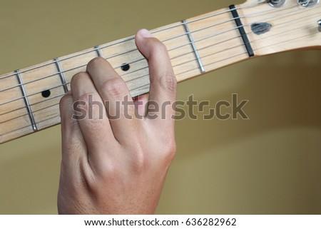 Chord B Major Guitar Closeup Stock Photo Edit Now 636282962