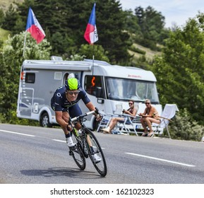 CHORGES, FRANCE- JUL 17:The Spanish cyclist Jose Joaquin Rojas Gil from Movistar Team pedaling during the stage 17 of Le Tour de France 2013, a time trial between Embrun and Chorges on July 17 2013