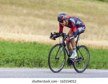 CHORGES,FRANCE- JUL 17:The Swiss cyclist Steve Morabito from BMC Racing Team pedaling during the stage 17 of Le Tour de France 2013, a time trial between Embrun and Chorges on July 17 2013