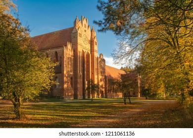 Chorin Abbey a former Cistecian abbey near the Village Chorin in Brandenburg