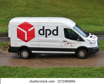 Chorleywood, Hertfordshire, England, UK - 27th November 2019: DPD Ford Transit Van. DPDgroup is an international parcel delivery service.