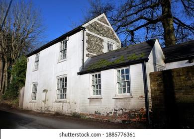 Chorleywood, Hertfordshire, England, UK - January 2nd 2021: Flint Cottage, Long Lane, Heronsgate, Chorleywood