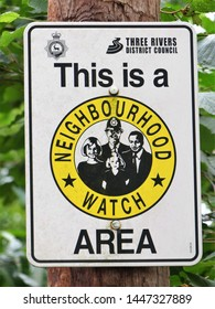 Chorleywood, Hertfordshire, England, UK - July 10th 2019: This is a Neighbourhood Watch Area sign
