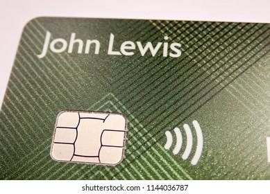 Chorleywood, Hertfordshire, UK - July 28th 2018: Close-up of John Lewis and Waitrose Partnership Card