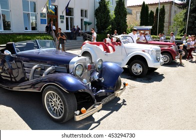Chortkiv - Ternopil - Ukraine - 12 July 2016 Day Chortkiv front of City Hall hosted an exhibition of vintage cars.