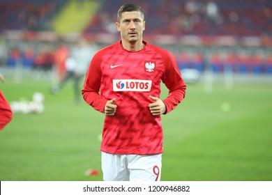 CHORZOW, POLAND - OCTOBER 11, 2018: UEFA Nations League 2019: Poland - Portugal o/p Robert Lewandowski