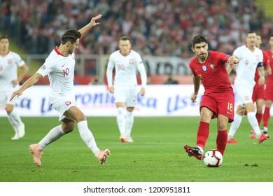 CHORZOW, POLAND - OCTOBER 11, 2018: UEFA Nations League 2019: Poland - Portugal o/p Ruben Neves
