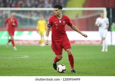 CHORZOW, POLAND - OCTOBER 11, 2018: UEFA Nations League 2019: Poland - Portugal o/p Pepe
