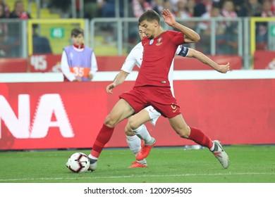 CHORZOW, POLAND - OCTOBER 11, 2018: UEFA Nations League 2019: Poland - Portugal o/p Ruben Dias