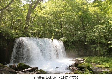 Choshi falls of Oirase mountain stream in Aomori, Japan