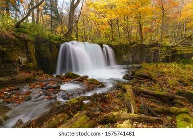 Choshi Otaki waterfall (Oirase stream, Aomori Japan)