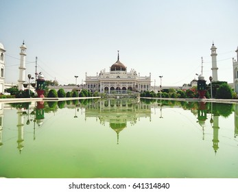 Chota Imambara Lucknow, U.P, India. Built as a congregation hall for Shia Muslims, by Muhammad Ali Shah, in 1838, it was to serve as his own mausoleum and his mother, who is buried beside him.