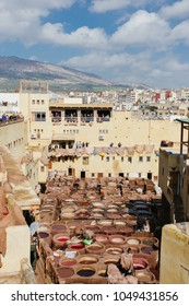 Chouara Tannery in Fes, Morocco, February 2018