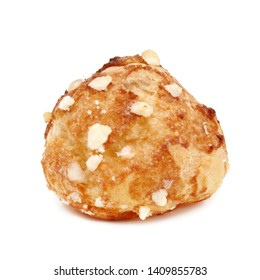 Chouquette (French sugar puff) isolated on white