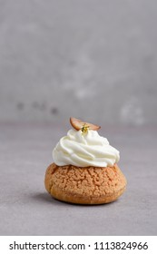 Choux with chestnut filling and chantilly cream