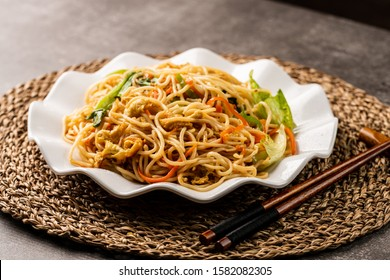 Chow mein noodles dish,chinses food