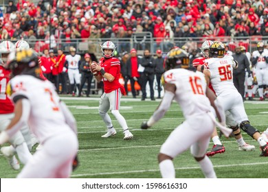Chris Chugunov #4 - NCAA Division 1 Football University of Maryland Terrapins  Vs. Ohio State Buckeyes on November 11th 2019 at the Ohio State Stadium in Columbus, Ohio USA