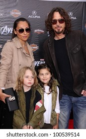 "Chris Cornell and family at the ""Marvel's The Avengers"" Los Angeles Premiere, El Capitan Theatre, Hollywood, CA 04-11-12"