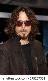 Chris Cornell at the Los Angeles premiere of 'Marvel's The Avengers' held at the El Capitan Theatre in Los Angeles on April 11, 2012.