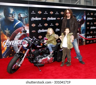 "Chris Cornell at the Los Angeles premiere of ""The Avengers"" held at the El Capitan Theater in Hollywood, USA on April 11, 2012."