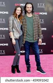 Chris D'Elia and Cassi Colvin at the Los Angeles premiere of 'Bad Moms' held at the Mann Village Theater in Westwood, USA on July 26, 2016.