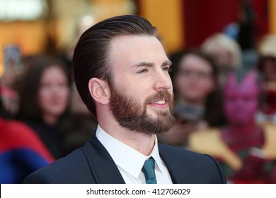 Chris Evans attends the European film premiere of 'Captain America: Civil War' at Vue Westfield on April 26, 2016 in London, England