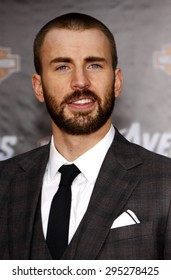 Chris Evans at the Los Angeles premiere of 'Marvel's The Avengers' held at the El Capitan Theatre in Los Angeles on April 11, 2012.