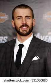 "Chris Evans at the Los Angeles premiere of ""The Avengers"" held at the El Capitan Theater in Hollywood, USA on April 11, 2012."