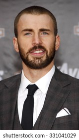 """Chris Evans at the Los Angeles premiere of """"The Avengers"""" held at the El Capitan Theater in Hollywood, USA on April 11, 2012."""