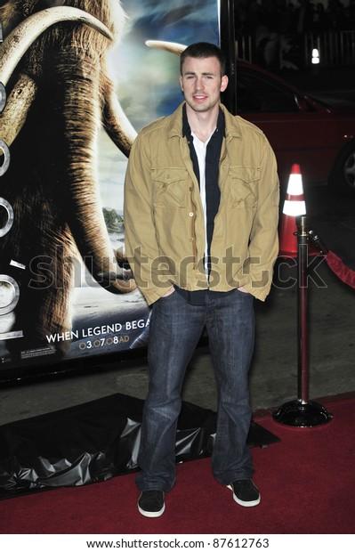 Chris Evans Premiere 10000 Bc Graumans Stock Photo (Edit Now