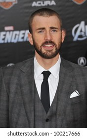 """Chris Evans at the world premiere of his new movie """"Marvel's The Avengers"""" at the El Capitan Theatre, Hollywood. April 11, 2012  Los Angeles, CA Picture: Paul Smith / Featureflash"""