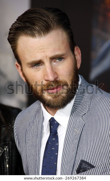 Chris Evans at the World premiere of Marvel's 'Avengers: Age Of Ultron' held at the Dolby Theatre in Hollywood, USA on April 13, 2015.