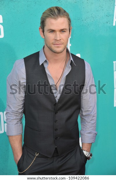 Chris Hemsworth at the 2012 MTV Movie Awards at Universal Studios, Hollywood. June 4, 2012  Los Angeles, CA Picture: Paul Smith / Featureflash