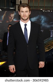 Chris Hemsworth at the Los Angeles premiere of 'Thor' held at the El Capitan Theater in Hollywood, USA on May 5, 2011.