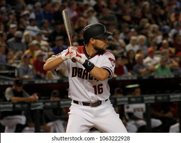Chris Owings outfielder for the Arizona D-Backs at Chase Field in Phoenix Arizona USA April 4,2018.