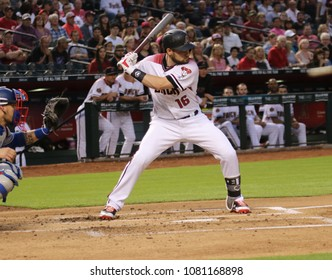 Chris Owings outfielder for the Arizona Diamondbacks at Chase Field in Phoenix Arizona USA April 30,2018.