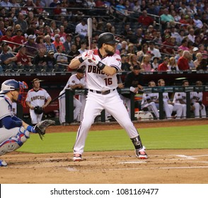 Chris Owings  outfielder for the Arizona Diamondbacks at Chase Field in Phoenix Arizona USA April 30,2018.  D-Backs