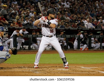 Chris Owings outfielder for the D-Backs at Chase Field in Phoenix Arizona USA April 3,2018.